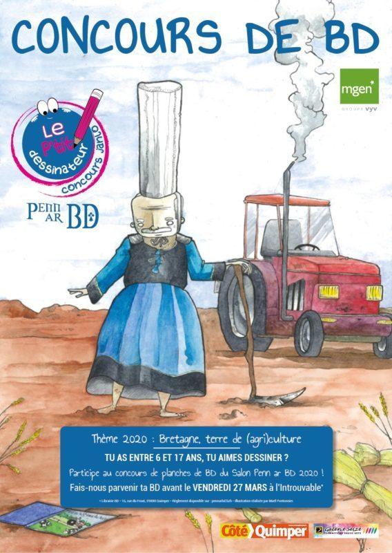 Affiche du concours des P'tits dessinateurs réalisée par Maël Pontonnier