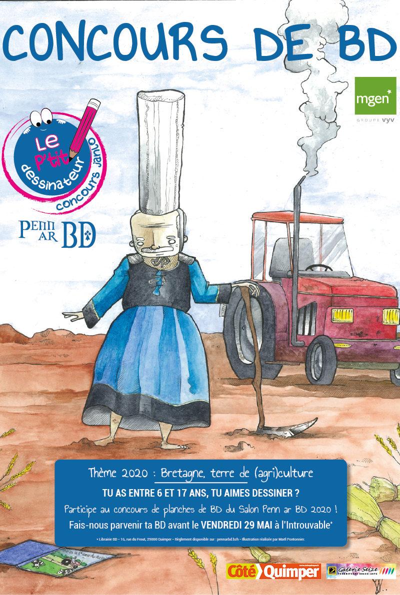 Affiche PTIT DESSINATEUR - MAI - BD