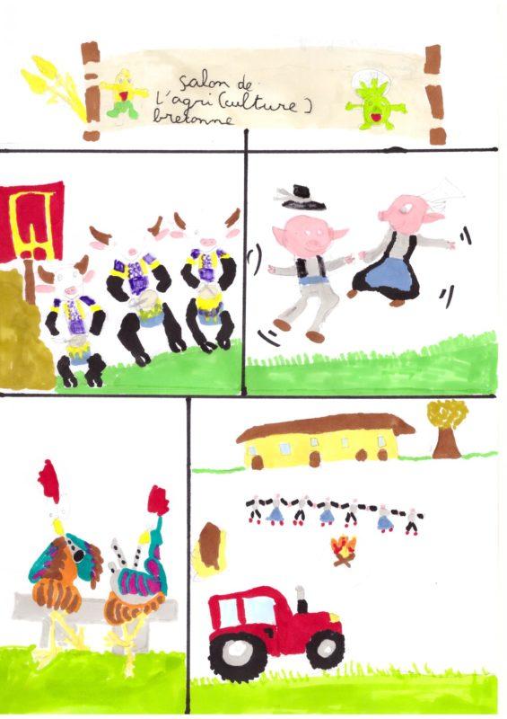 Catégorie 7-9 ans - 2e prix - Salon de l'agriculture bretonne par Léa Kerdreux (7 ans) de Quimper (29)